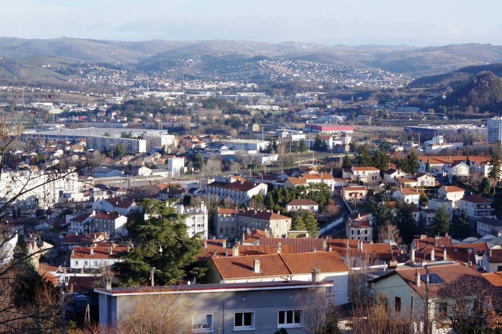Vue de Saint Etienne en Rhône-Alpes.