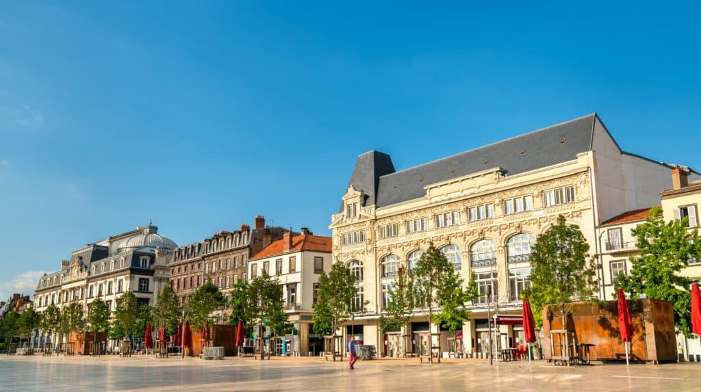 Place de Jaude à Clermont-Ferrand.