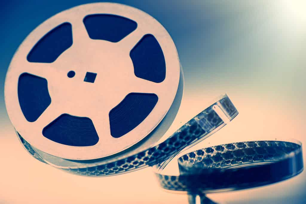Bobine de film de cinéma pour représenté le court métrage.