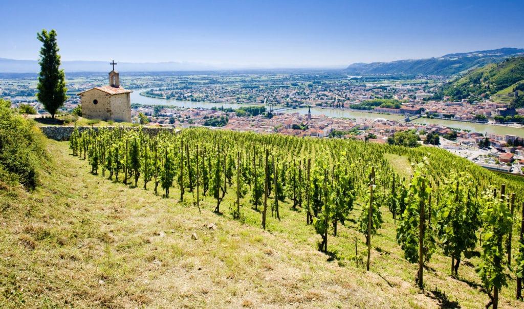 vue sur la vallée du Rhône.