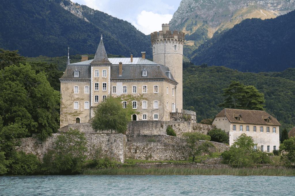 Le palais de l'île à Annecy.
