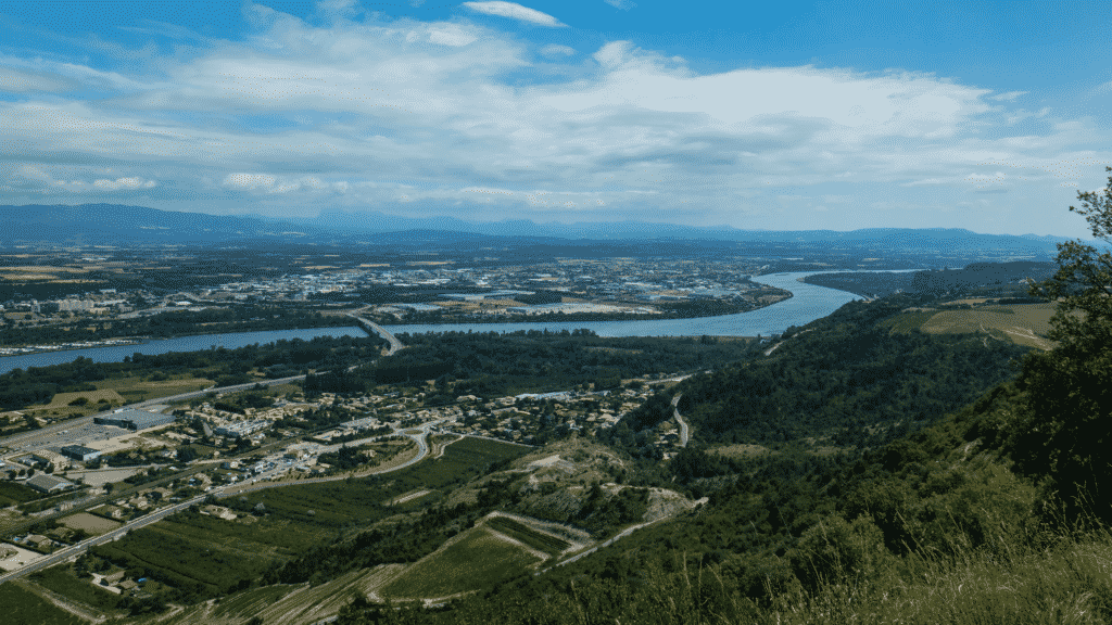 Vue sur la vallée de Valence.