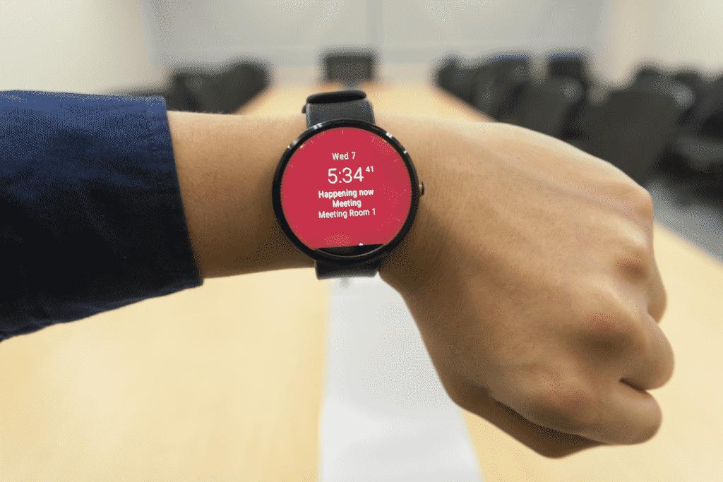 Vue sur une montre connectée pour faire du sport.